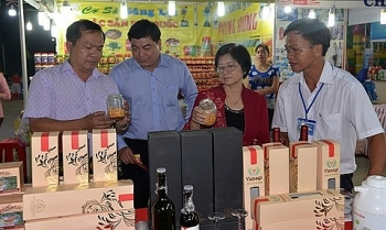 trade fair displays local goods
