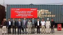 first russian freight train arrives in vietnam