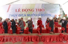 ground broken for muong muon hydropower plant in dien bien