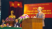 senior party official urges enhancing partys external relations