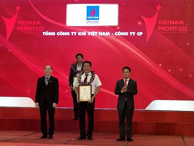 pvn pv gas honored in vietnam profit500 ranking in 2018