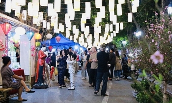 hang luoc street flower market opens for tet in hanoi