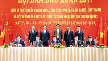 vietnamese border provinces chinese region hold new year meeting