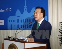 hcm city party chief greets rok localitys official