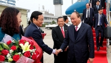 pm visits laos to co chair vietnam laos inter governmental committees 40th meeting
