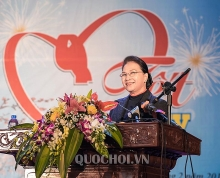 na chairwoman attends tet celebration in hai duong