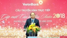 pm pays new year visit to vietinbank and vietcombank