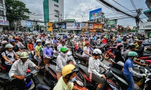 motorbikes still the vehicle of choice in vietnam
