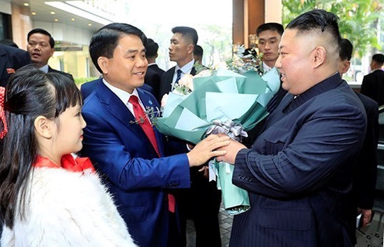 dprk chairman arrives at dong dang station beginning vietnam visit