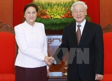lao na chairwoman pledges to implement set agreements