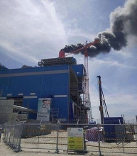 fire blazes in vinh tan thermal power plant