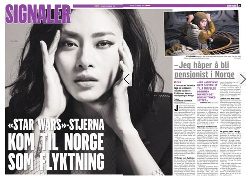 Vietnamese actress appears on Norway's largest newspaper