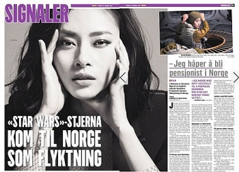 vietnamese actress appears on norways largest newspaper