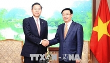 deputy pm hosts sumitomo mitsui banks senior official