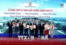 work starts on five rok invested projects in binh phuoc