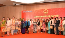 na chairwoman meets female foreign diplomats in vietnam