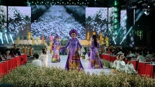 ao dai on show at festival in ho chi minh city