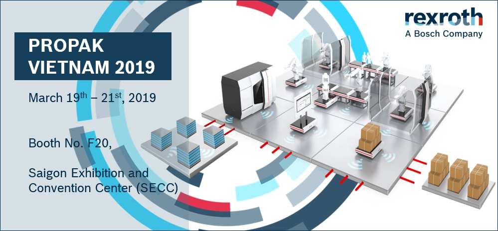 bosch rexroth to showcase its advanced technology at propak vietnam 2019