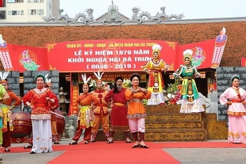 anniversary of hai ba trung uprising marked in hanoi