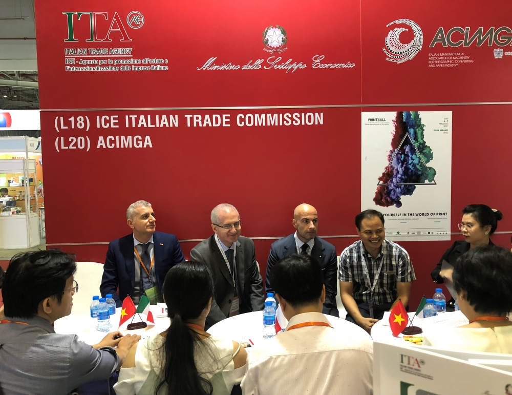 italian booth presents latest technologies at propak printech vietnam 2019