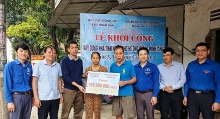 work starts on nhan dan funded house for needy household in vinh city