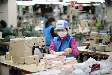 dong xuan knitting company aims to produce 60000 face masks per day