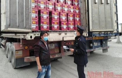 over 5000 tonnes of agricultural products exported daily through tan thanh border gate