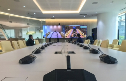 bosch equips state of the art viettel hq with ip conference system