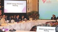 asean foreign ministers meeting opens in singapore