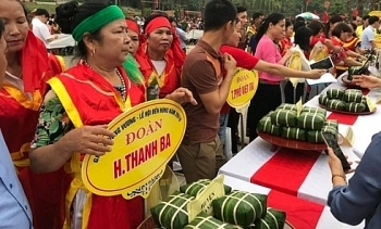 traditional cake making contest held to commemorate hung kings