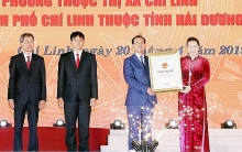 na chairwoman announces establishment of chi linh city in hai duong