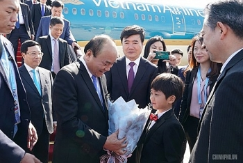 govt chief arrives in beijing for 2nd brf