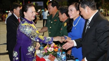 ben tre celebrates south liberation and national reunification