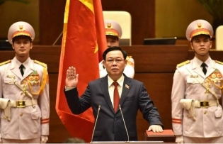 new na chairman takes the oath of office