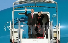 president leaves for china visit