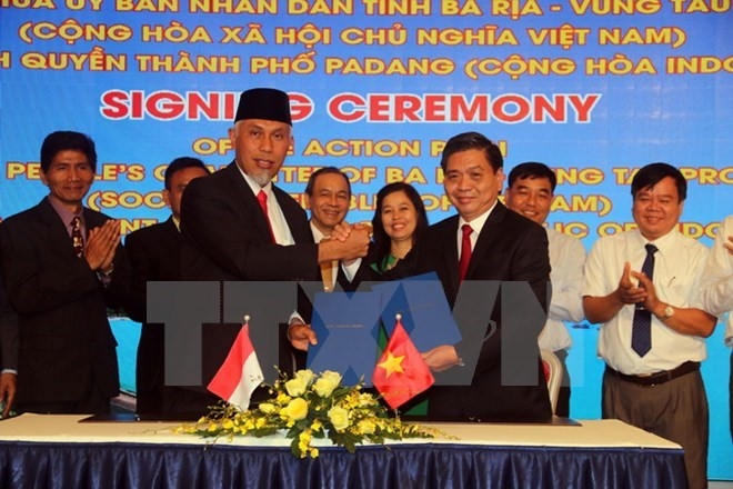 vietnamese indonesian localities boost partnership