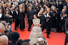 nha ky hits the cannes red carpet in non traditional look