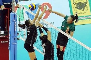 eight teams vie for trophy at intl womens volleyball tourney