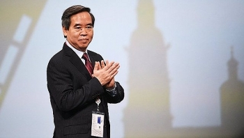 party official delivers speech at russias economic forum