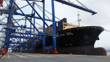hai phong international terminal welcomes first container ship
