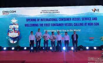 international container port inaugurated in thanh hoa