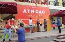 rice atms dispense staple for needy people in vietnam