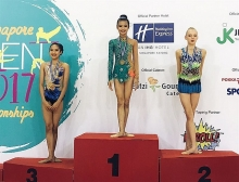 gymnast my wins gold silver in singapore open