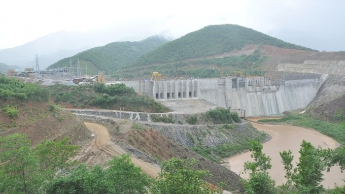 trung son hydropower plants final turbine connected to power grid