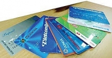 huge number of bank cards unused