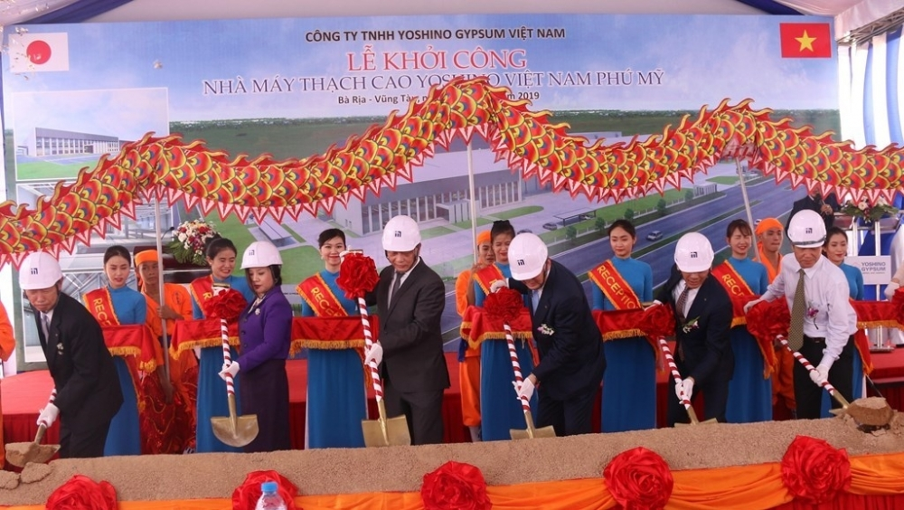 work begins on japanese invested gypsum plant in ba ria vung tau
