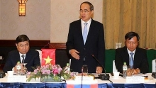 ho chi minh city vientiane leaders hold talks