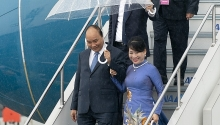pm nguyen xuan phuc arrives in japan
