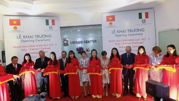 the italy vietnam footwear technology center launched