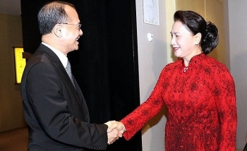na chairwoman receives chinese companies executives